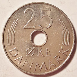 Denmark 25 Öre 1973-1988 KM#861.1-861.3