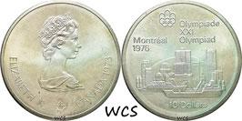Canada 10 Dollar 1973 KM#87 UNC- - XXI Summer Olympic Games Montreal 1976