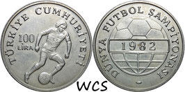 Turkey 100 Lira 1982 - FIFA World Cup 1982 KM#951 UNC