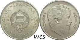 Hungary 5 Forint 1967 Lajos Kossuth KM#576 VF