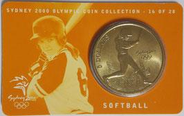 Australia 5 Dollars 2000 KM#378 UNC - Sydney 2000 Olympics - Softball