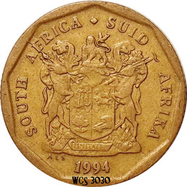South Africa 20 Cents 1990-1995 KM#136