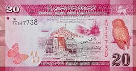 Sri Lanka 20 Rupees 01.01.2010 P.123a UNC