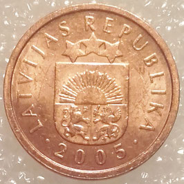 Latvia 1 Santims 1992-2008 KM#15