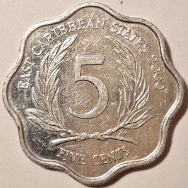 East Caribbean States 5 Cents 1981-2000 KM#12