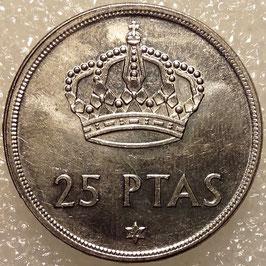 Spain 25 Pesetas 1975 KM#808