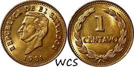 El Salvador 1 Centavo 1981 KM#135.2a
