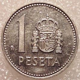Spain 1 Peseta 1982-1989 KM#821
