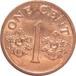 Singapore 1 Cent 1986-1990 KM#49