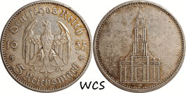 Germany - Third Reich 5 Reichsmark 1935 A KM#83 VF- - 1st Anniversary of Nazi Rule - Potsdam Garrison Church (2)