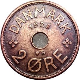 Denmark 2 Öre 1927-1940 KM#827.2