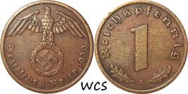 Germany - Third Reich 1 Reichspfennig 1936-1940 KM#89