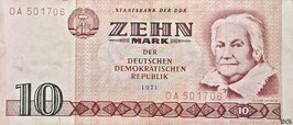 GDR 10 Mark 1971 Ro 359a Series: OA
