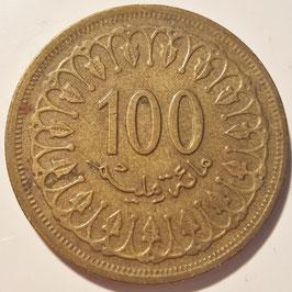Tunisia 100 Millimes 1960-2013 KM#309