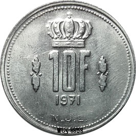 Luxembourg 10 Francs 1971-1980 KM#57
