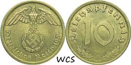 Germany - Third Reich 10 Reichspfennig 1936-1939 KM#92