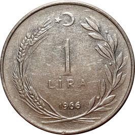 Turkey 1 Lira 1959-1967 KM#889a.1