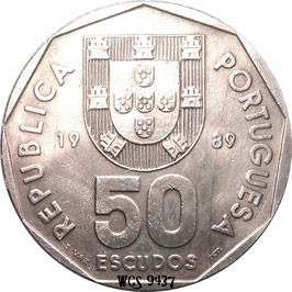 Portugal 50 Escudos 1986-2001 KM#636