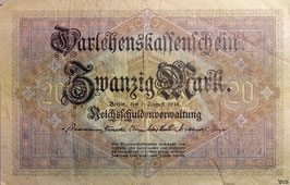 Germany 20 Mark 05.08.1914 Ro 49b Series Q