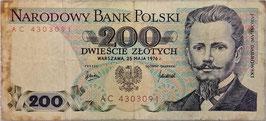 Poland 200 Zlotych 25.05.1976 P.144a