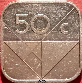 Aruba 50 Cents 1986-2016 KM#4
