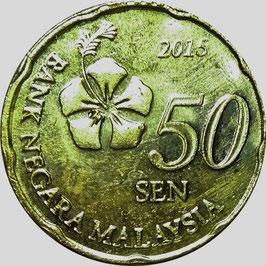 Malaysia 50 Sen 2011-Date KM#204