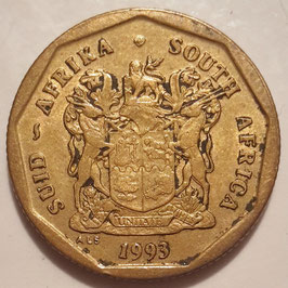 South Africa 50 Cents 1990-1995 KM#137