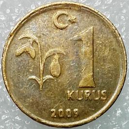 Turkey 1 Kurus 2009-2018 KM#1239