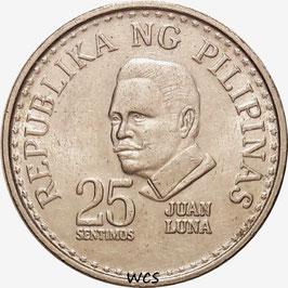 Philippines 25 Sentimos 1975-1978 KM#208