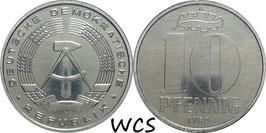 GDR 10 Pfennig 1980 A KM#10 Prooflike