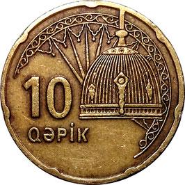 Azerbaijan 10 Qapik 2006 KM#42 VF