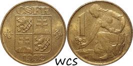Czechoslovakia 1 Koruna 1991-1992 KM#151