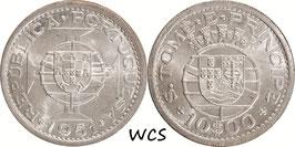 Sao Tome and Príncipe 10 Escudos 1951 KM#14 UNC-