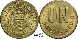 Peru 1 Sol 1981 KM#266.2 XF