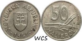 Slovakia 50 Halierov 1941 KM#5 VF
