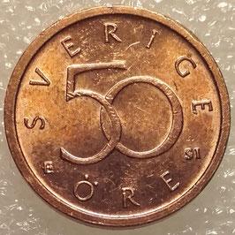Sweden 50 Öre 1992-2009 KM#878