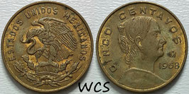 Mexico 5 Centavos 1954-1969 KM#426