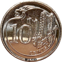 Singapore 10 Cents 2013-2017 KM#-
