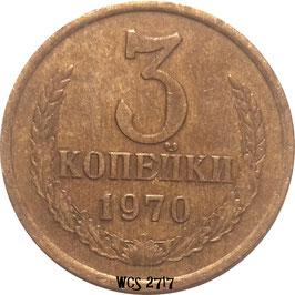 Soviet Union 3 Kopeks 1961-1991 Y#128a
