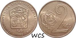 Czechoslovakia 2 Koruny 1972-1990 KM#75