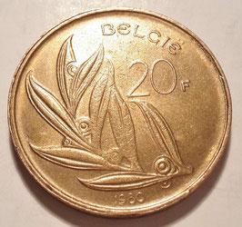 Belgium 20 Francs 1980-1993 BELGIE KM#160
