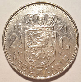 Netherlands 2½ Gulden 1969-1980 KM#191