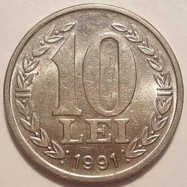 Romania 10 Lei 1990-1992 KM#108