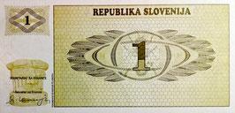 Slovenia 1 Tolar 1990 P.1a UNC