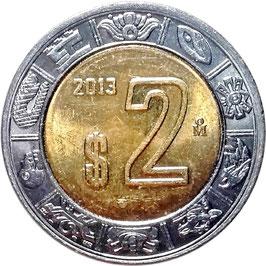 Mexico 2 Pesos 1996-2016 KM#604