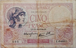 France 5 France 19.10.1939 P.83 VG