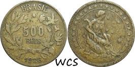 Brazil 500 Reis 1928 KM#524 KM#524 F