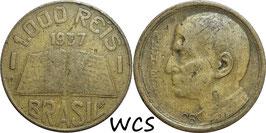Brazil 1000 Reis 1937 KM#541 F