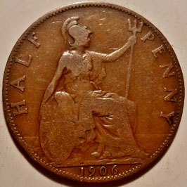 Great Britain ½ Penny 1902-1910 KM#793.2