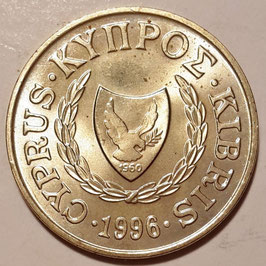 Cyprus 2 Cents 1983-2004 KM#54